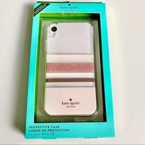 New Kate Spade iPhone XR Pink Stripe Phone Case